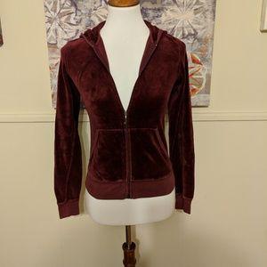Juicy Couture Burgundy Velour Sweatshirt Sz M